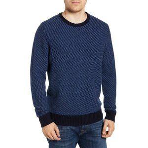 NORDSTROM MEN'S SHOP New Jacquard Sweater XL Blue